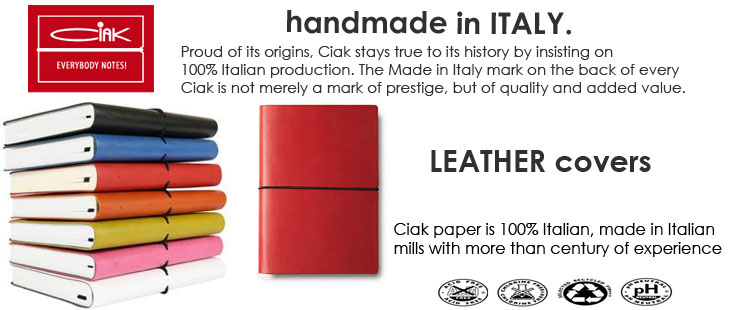 CIAK slider leather journals